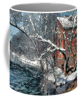 Mill House In Winter Coffee Mug