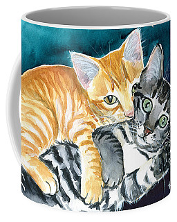 Milo And Tigger - Cute Kitty Painting Coffee Mug