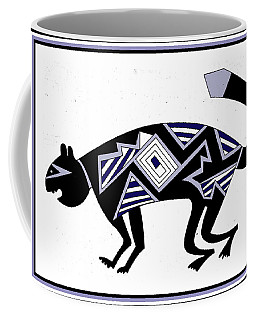 Mimbres Mountain Lion Coffee Mug by Vagabond Folk Art - Virginia Vivier