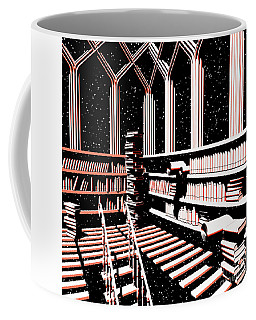 Coffee Mug featuring the digital art Mind Library Glowing by Russell Kightley