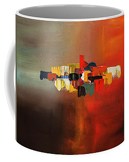 Coffee Mug featuring the painting Mindful - Abstract Art by Carmen Guedez