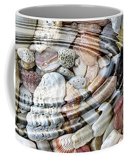 Coffee Mug featuring the digital art Minerals And Shells by Michal Boubin