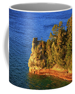 Coffee Mug featuring the photograph Miners Castle Painting by Rachel Cohen