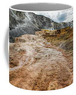 Coffee Mug featuring the photograph Minerva Hot Springs Yellowstone by John M Bailey