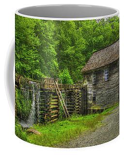 Coffee Mug featuring the photograph Mingus Mill 3 Mingus Creek Great Smoky Mountains Art by Reid Callaway