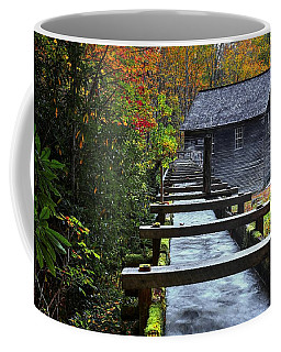 Mingus Mill During Fall In The Great Smoky Mountain National Park Coffee Mug