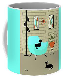 Coffee Mug featuring the digital art Mini Gravel Art With Brick Wall by Donna Mibus