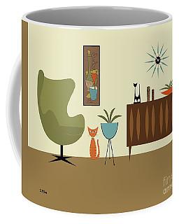 Mini Gravel Art With Orange Cat Coffee Mug