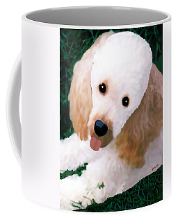 Miniature Poodle Albie Coffee Mug by Marian Cates