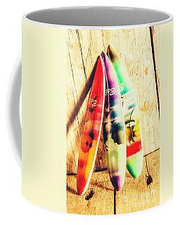 Miniature Surfboard Decorations Coffee Mug