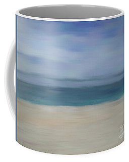Coffee Mug featuring the photograph Minimal Beach by Andrea Anderegg