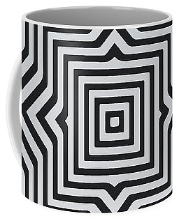 Minimal Geometrical Optical Illusion Style Pattern In Black White T-shirt  Coffee Mug