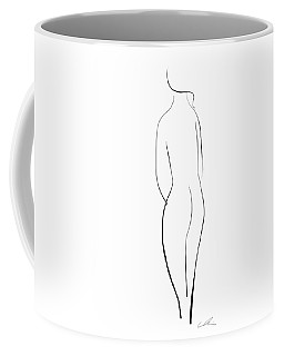 Minimal Line Drawing Of A Nude Woman Coffee Mug