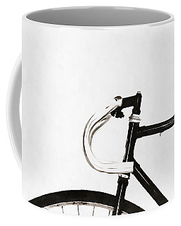 Minimalist Bicycle Painting Coffee Mug