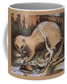Coffee Mug featuring the digital art Mink At The Brook by Art MacKay