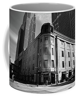 Coffee Mug featuring the photograph Minneapolis Downtown Bw by Frank Romeo