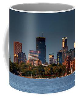 Minneapolis Skyline Photography Lake Calhoun Summer Evening Coffee Mug