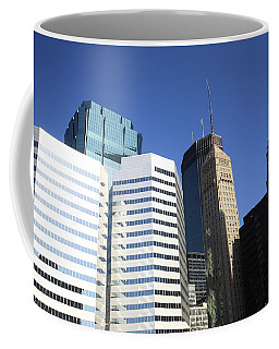 Coffee Mug featuring the photograph Minneapolis Skyscrapers 11 by Frank Romeo