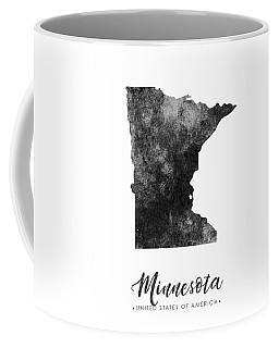 Minnesota State Map Art - Grunge Silhouette Coffee Mug