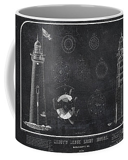 Coffee Mug featuring the drawing Minot's Ledge Light House. Massachusetts Bay Near Cohasset  by Vintage