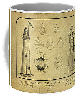 Coffee Mug featuring the drawing Minot's Ledge Light House. Massachusetts Bay by Vintage