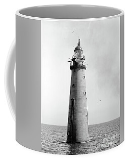 Coffee Mug featuring the photograph Minot's Ledge Lighthouse, Boston, Mass Vintage by Vintage
