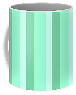 Coffee Mug featuring the mixed media Mint Green Stripe Pattern by Christina Rollo