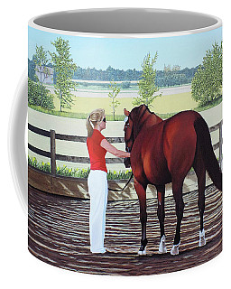 Coffee Mug featuring the painting Mirage Of Wassini by Kenneth  Kirsch