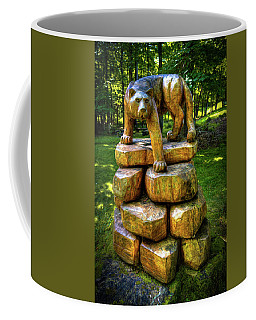 Coffee Mug featuring the photograph Mirnie's Cougar Sculpture by David Patterson