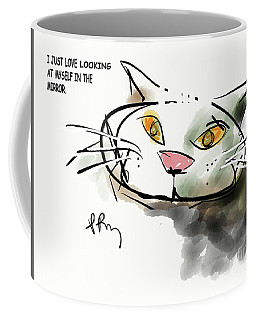 Mirror Cat Coffee Mug