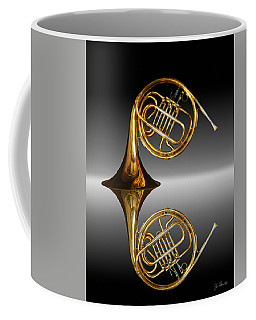 Coffee Mug featuring the photograph Mirrored Horn by Joe Bonita