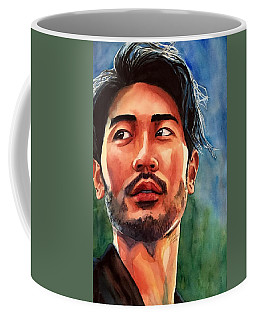 Coffee Mug featuring the painting Mirrors Of Perception by Michal Madison