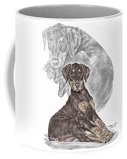 Mischief ... Moi? - Doberman Pinscher Puppy - Color Tinted Coffee Mug