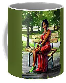 Mismatched And Happy Coffee Mug by Anthony Mwangi
