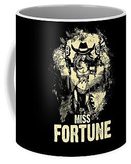 Miss Fortune - Vintage Comic Line Art Style Coffee Mug