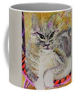 Coffee Mug featuring the painting Miss Kitty Stern by Lisa Kaiser