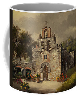 Coffee Mug featuring the painting Mission Espada by Kyle Wood