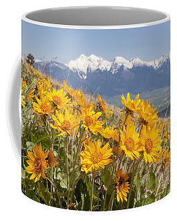 Mission Mountain Balsam Blooms Coffee Mug by Jack Bell