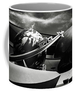 Mission Space Black And White Coffee Mug by Eduard Moldoveanu