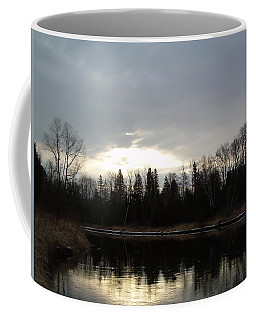 Coffee Mug featuring the photograph Mississippi River Dawn Clouds by Kent Lorentzen