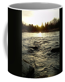 Coffee Mug featuring the photograph Mississippi River Dawn Reflection by Kent Lorentzen