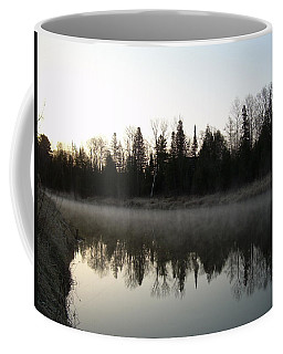 Coffee Mug featuring the photograph Mississippi River Fog Reflection by Kent Lorentzen