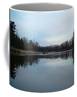 Coffee Mug featuring the photograph Mississippi River Morning Reflection by Kent Lorentzen