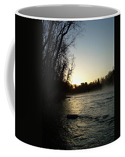 Coffee Mug featuring the photograph Mississippi River Sunrise Shadow by Kent Lorentzen