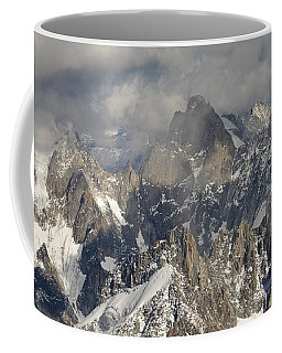 Mist And Light At Aiguille Du Midi Coffee Mug