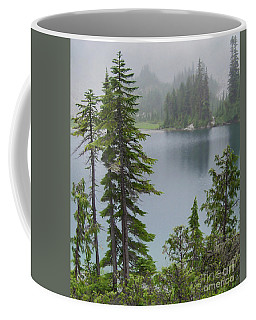 Coffee Mug featuring the photograph Mist At Snow Lake by Charles Robinson