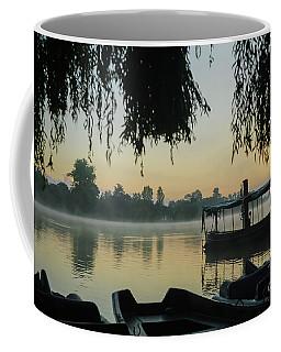 Mist Lake Silhouette Coffee Mug
