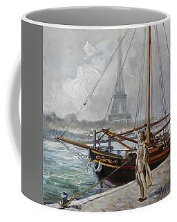 Mist On The Seine, Paris Coffee Mug