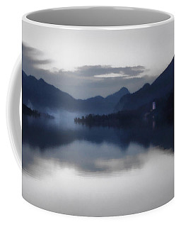 Mist Rising On The Wolfgangsee At Dusk Coffee Mug