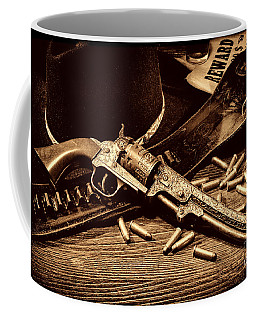 Mister Durant's Revolver Coffee Mug by American West Legend By Olivier Le Queinec
